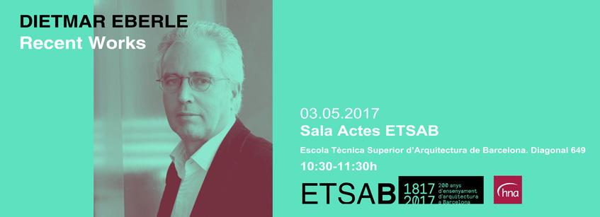 Dietmar Eberle, ETSAB, conferencia