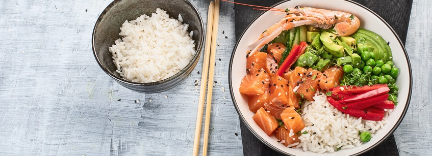 poke bowl, alimentación, nutrición, gastronomía