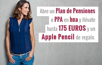 Abre tu plan de pensiones o PPA en hna