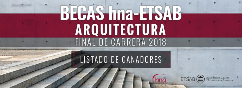 becas, Barcelona, Arquitectura, premios, hna, ETSAB