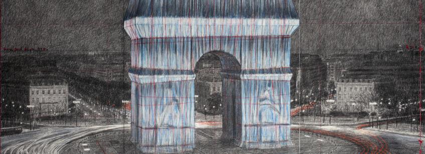 Christo et Jeanne Claude, Arte, Arquitectura, París, Pompidou